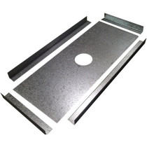 6 Inch Galvanised Register Plate Kit
