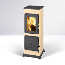 Thorma Bozen Beige Multi Fuel Wood Burning Stove