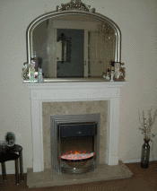 Black and Silver Dimplex Castillo Electric Fire