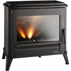 Using a wood burning or multi-fuel stove for central heating.