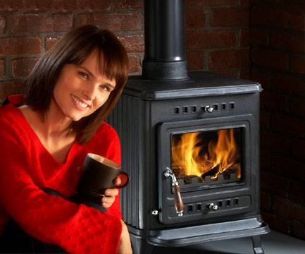 The social benefits for a family that gathers around a wood burning stove.