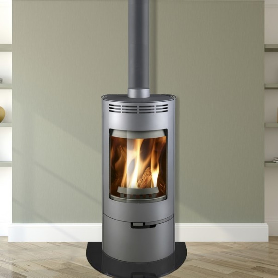 Thorma Andorra 5 Kw Grey Smoke Exempt Multi Fuel Wood