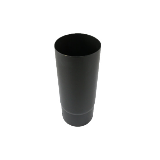 0.25 metre Straight 6 inch Plain Black Flue Section