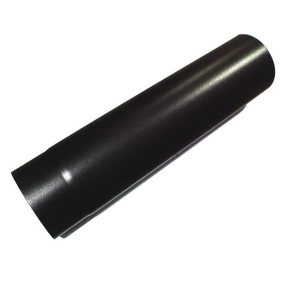 0.5 metre Straight 7 inch Plain Black Flue Section