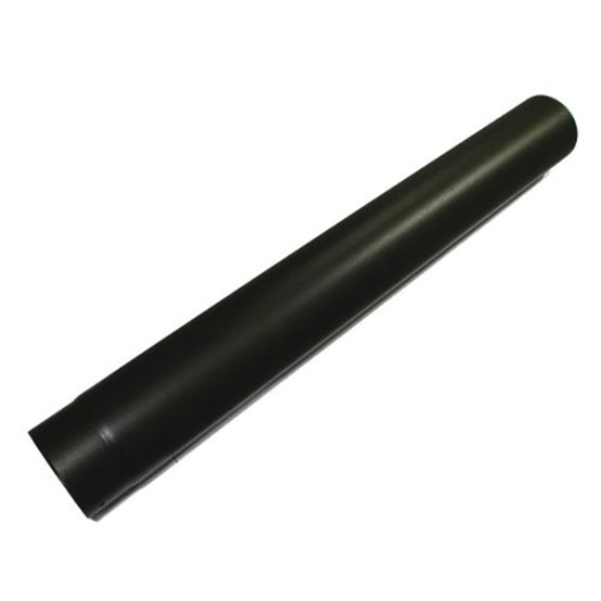 1 metre Straight 4 Inch Plain Black Flue Section