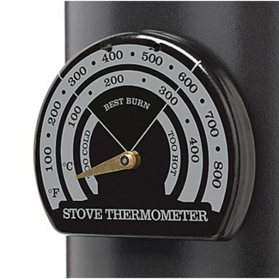 Stove Pipe Thermometer for Single Wall Flue
