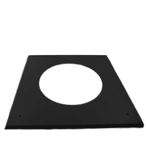 5 inch Black Twin Wall Flat Ceiling / Wall Plate