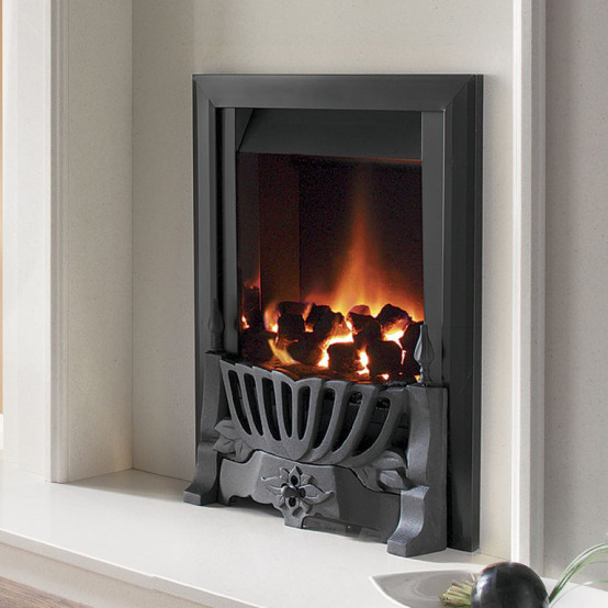 Flavel Warwick Brass Slimline Inset Gas Fire (Manual Control)