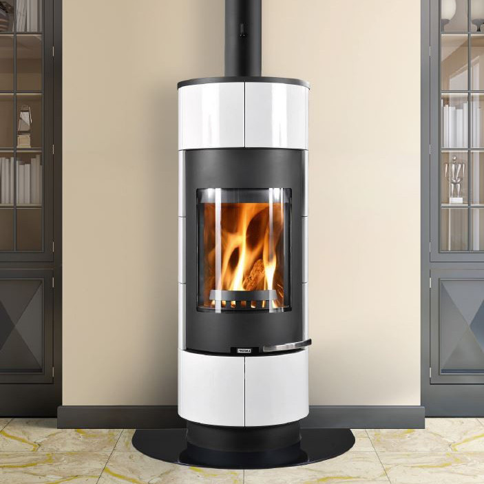 Thorma Cadiz Black And White Wood Burning Stove