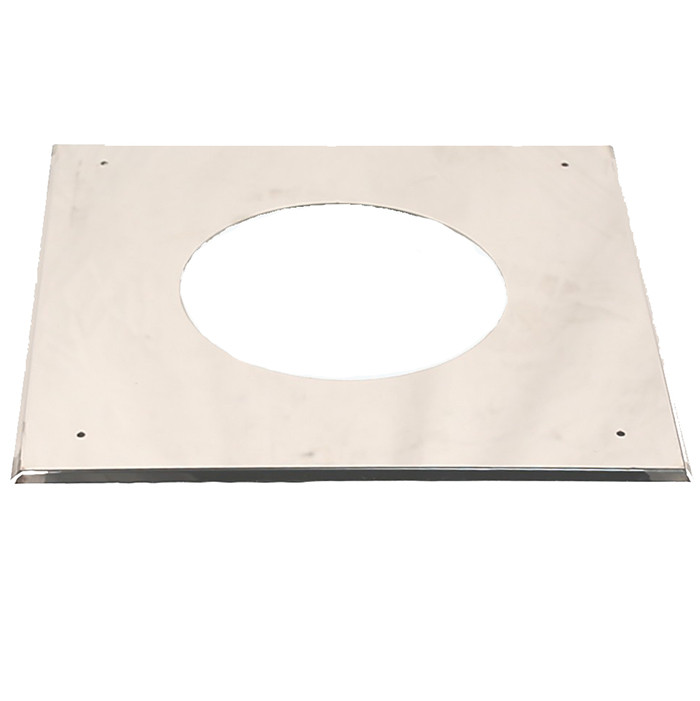 6 inch Twin Wall Flat Ceiling / Wall Plate