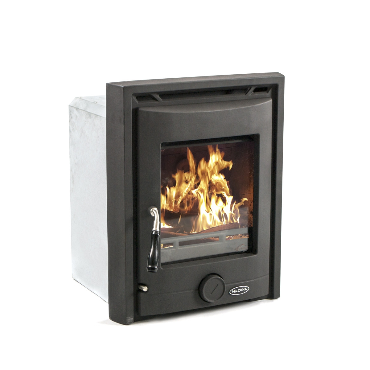 Mazona Portland 7 kW Multi Fuel Wood Burning Matt Black Inset Stove