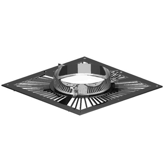 5 inch Twin Wall Black Ventilated Support Plate