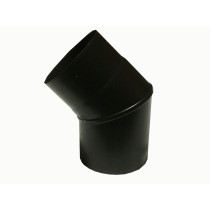 7 inch 45 Degree Plain Black Flue Elbow