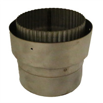 5 inch Flue Adaptor Vitreous Enamel to Flexi Flue Collar