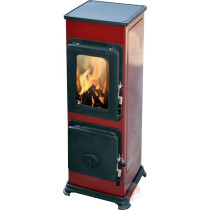 Thorma Bozen 5 kW Wine Red Multi Fuel Wood Burning Stove