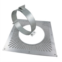 6 inch Twin Wall Black Ventilated Support Plate