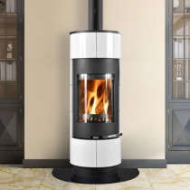 Thorma Atika Black and White Smoke Exempt Wood Burning Stove