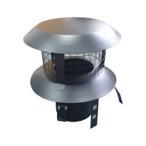 Black Pot Hanging Chimney Cowl for 6 Inch Flexible Flue