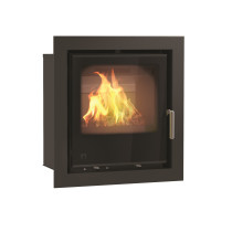 Arada Aarrow i500 6.4 kW Flexifuel Multi Fuel Wood Burning Stove Black