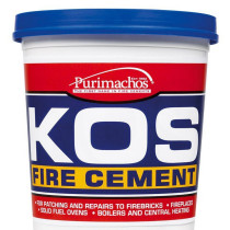 KOS Black Fire Cement 1Kg Tub