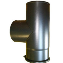 6 inch 90 Degree Tee Black Flue Section with Door