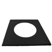 6 inch Black Twin Wall Flat Ceiling / Wall Plate