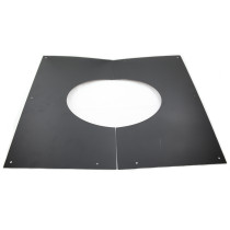 6 inch Black Twin Wall Decorative Wall / Ceiling Plate