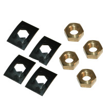 Villager Glass Clips & Nuts 4 Pack VFS206