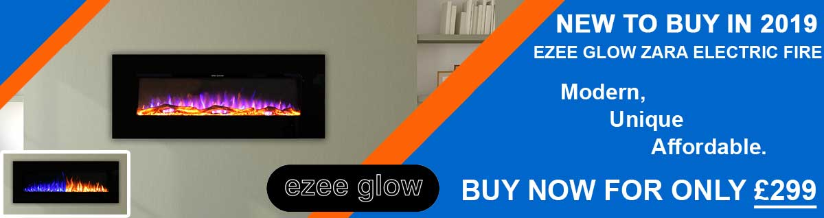 New to Buy in 2019: Ezee Glow Zara Electric Fire. Modern, Unique, Affordable. Buy now for only £299.