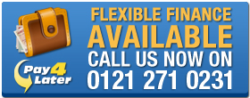 Flexible finance available, call us on 0121 271 0231