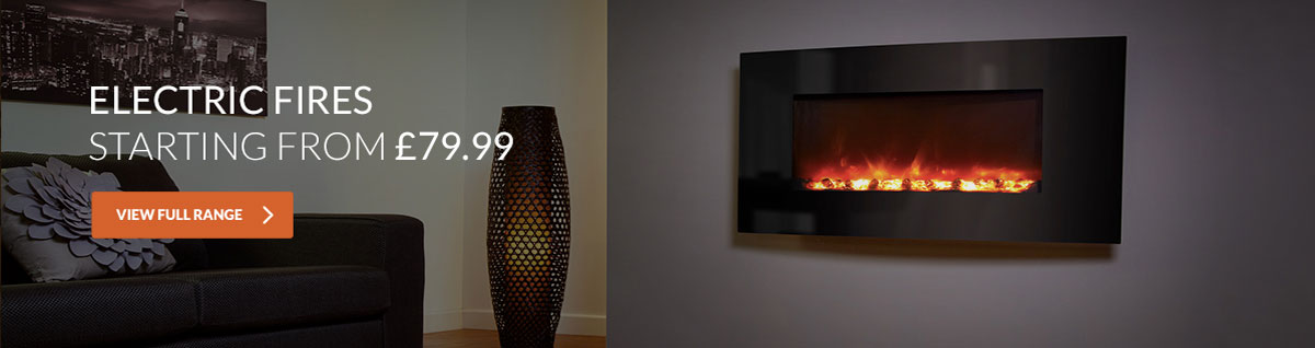 Electric fires starting from £79.99